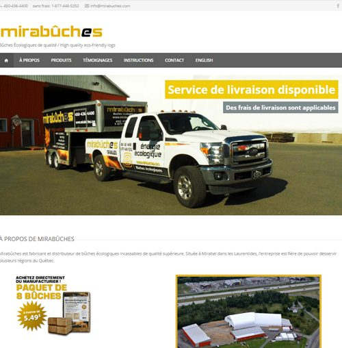 Mirabûches - site web